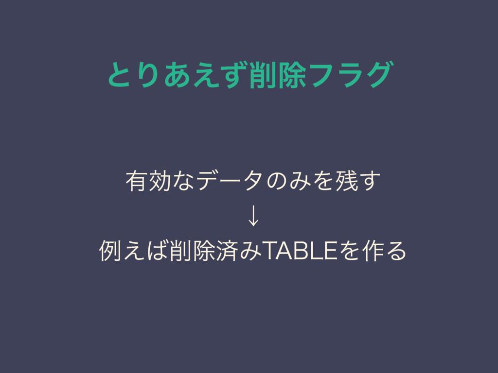 """ͱΓ͋͑ͣআϑϥά ༗ޮͳσʔλͷΈΛ͢ ˣ ྫ͑আࡁΈ5""""#-&Λ࡞Δ"""
