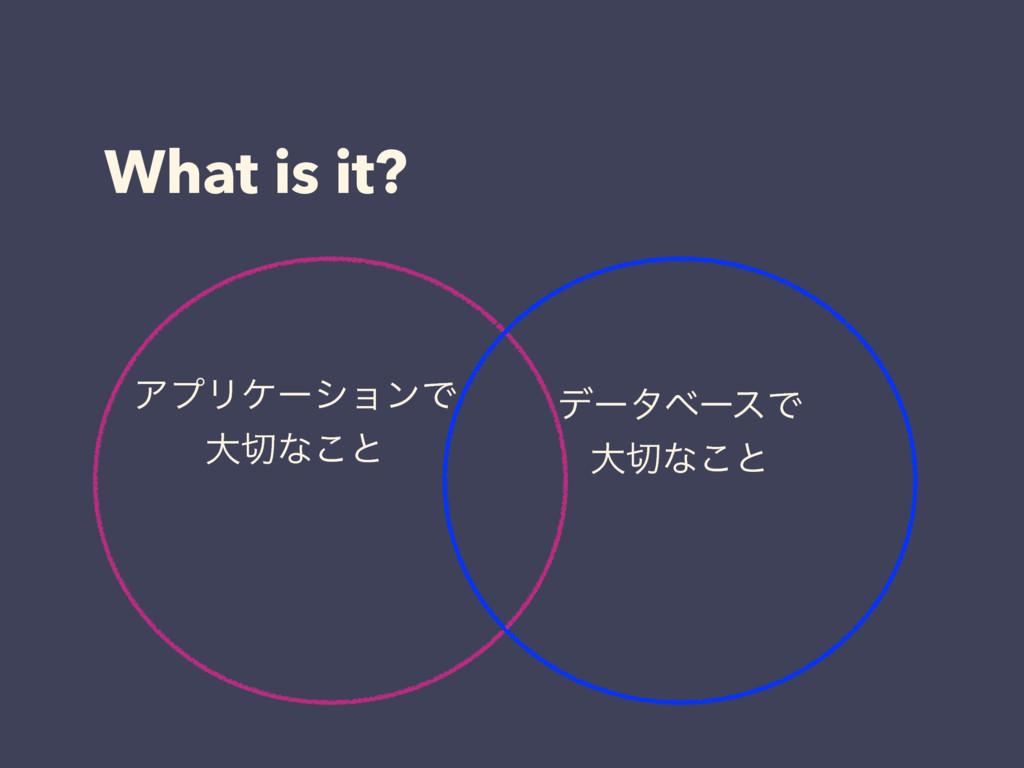 What is it? σʔλϕʔεͰ େͳ͜ͱ ΞϓϦέʔγϣϯͰ େͳ͜ͱ