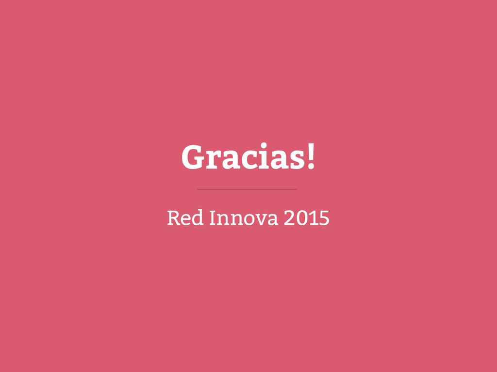 Gracias! Red Innova 2015