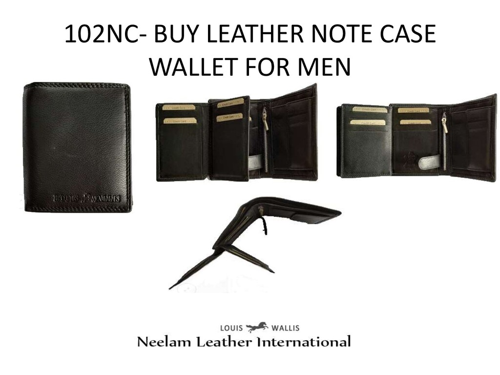 102NC- BUY LEATHER NOTE CASE WALLET FOR MEN