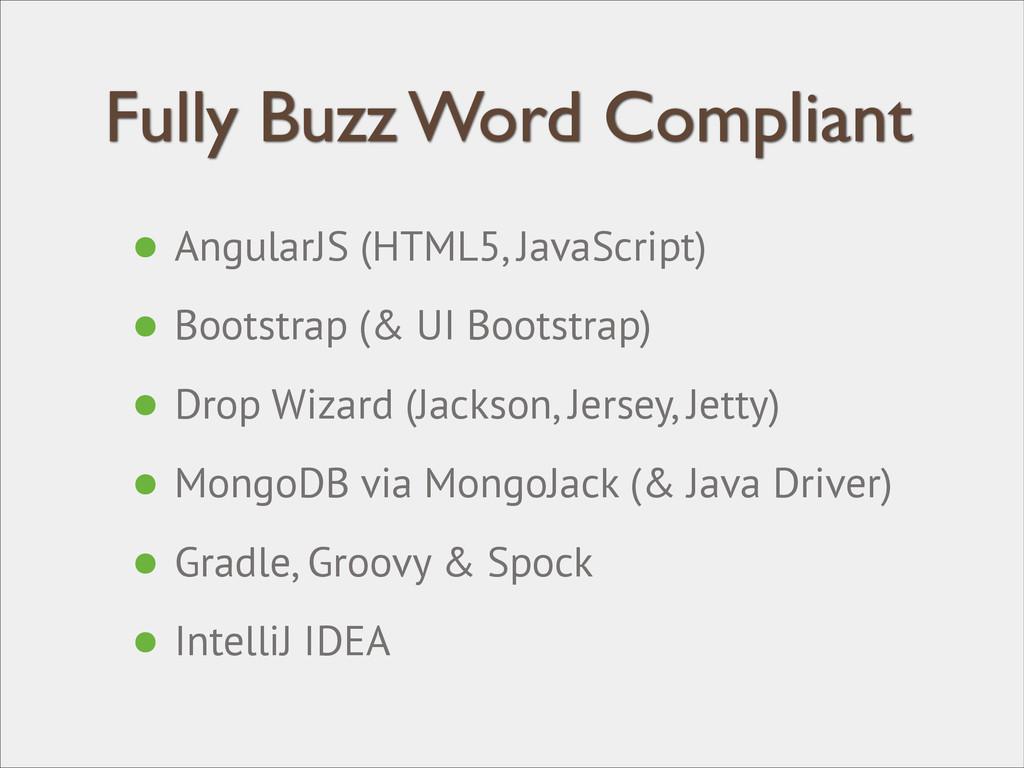 Fully Buzz Word Compliant • AngularJS (HTML5, J...