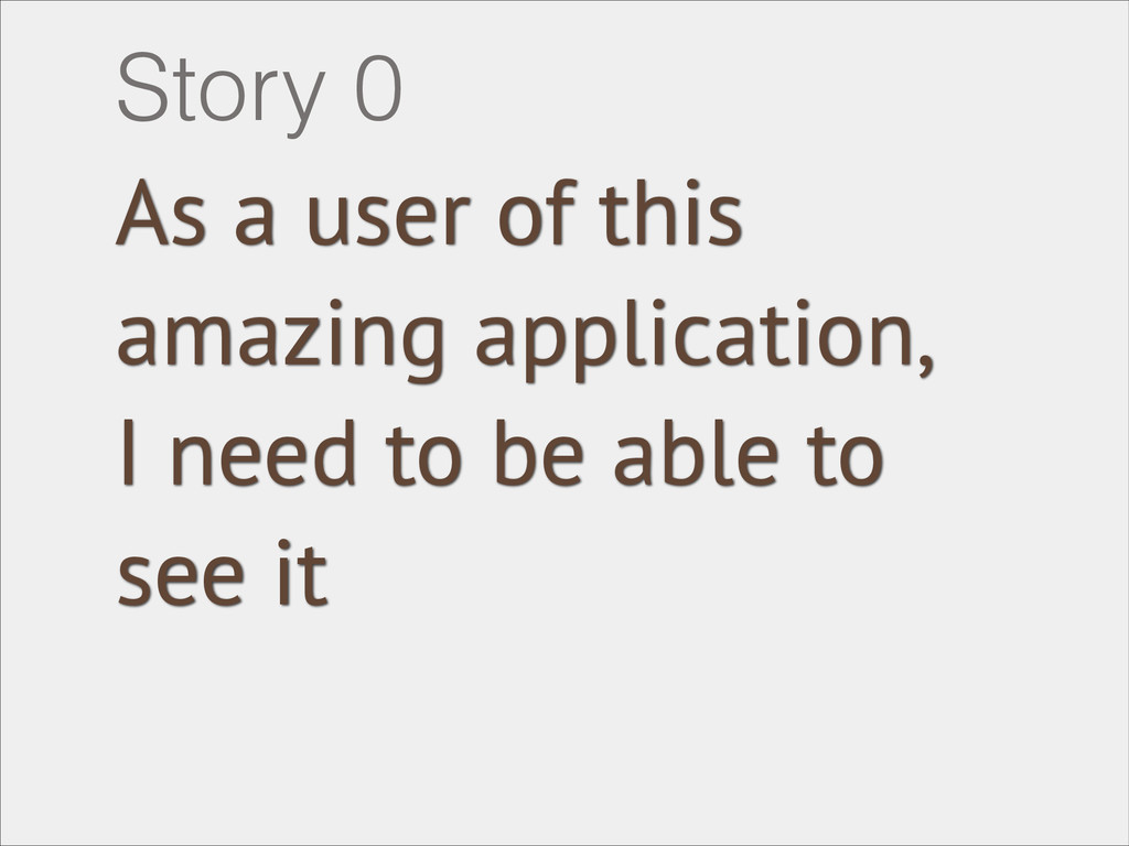 As a user of this amazing application, I need t...