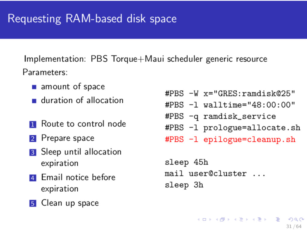 Requesting RAM-based disk space Implementation:...
