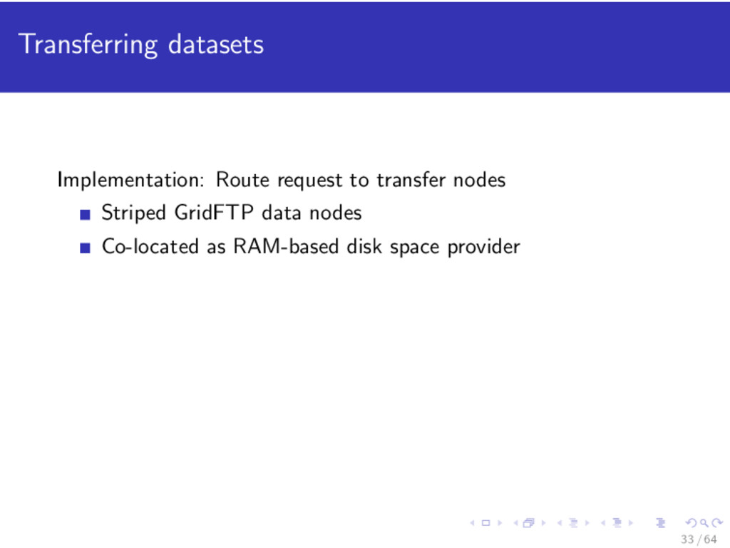 Transferring datasets Implementation: Route req...