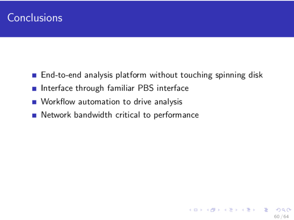 Conclusions End-to-end analysis platform withou...