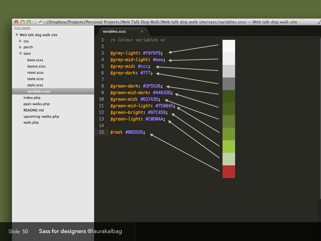 Slide Sass for designers @laurakalbag 50