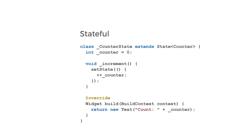 Stateful class _CounterState extends State<Coun...