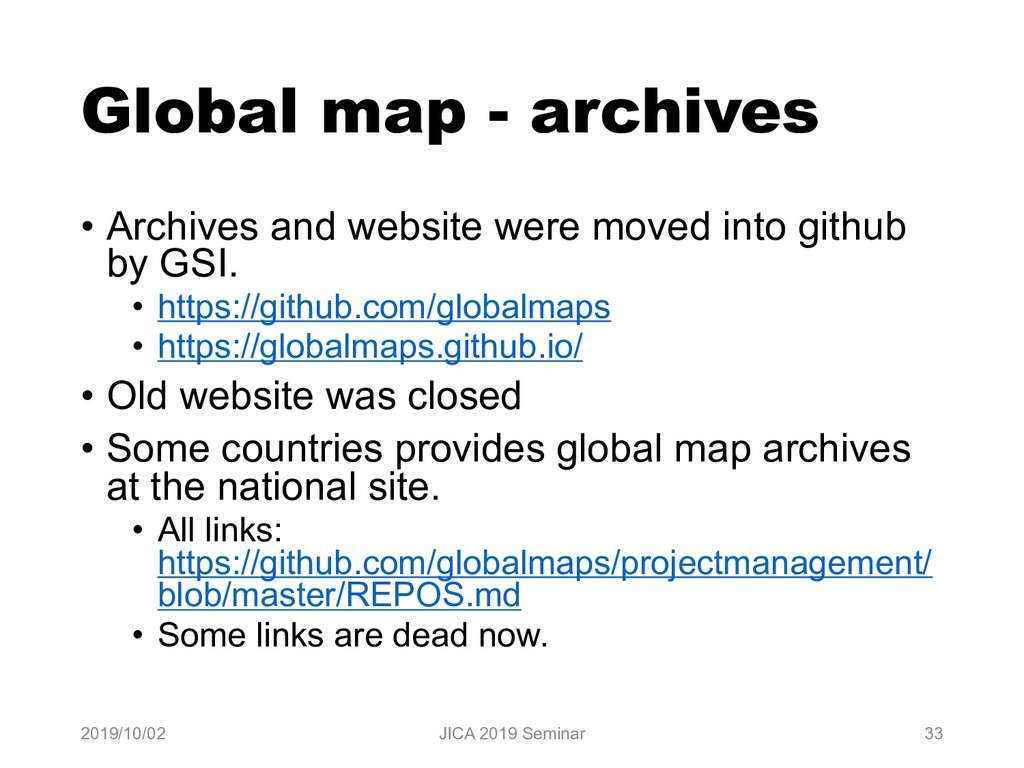 Global map - archives • Archives and website we...