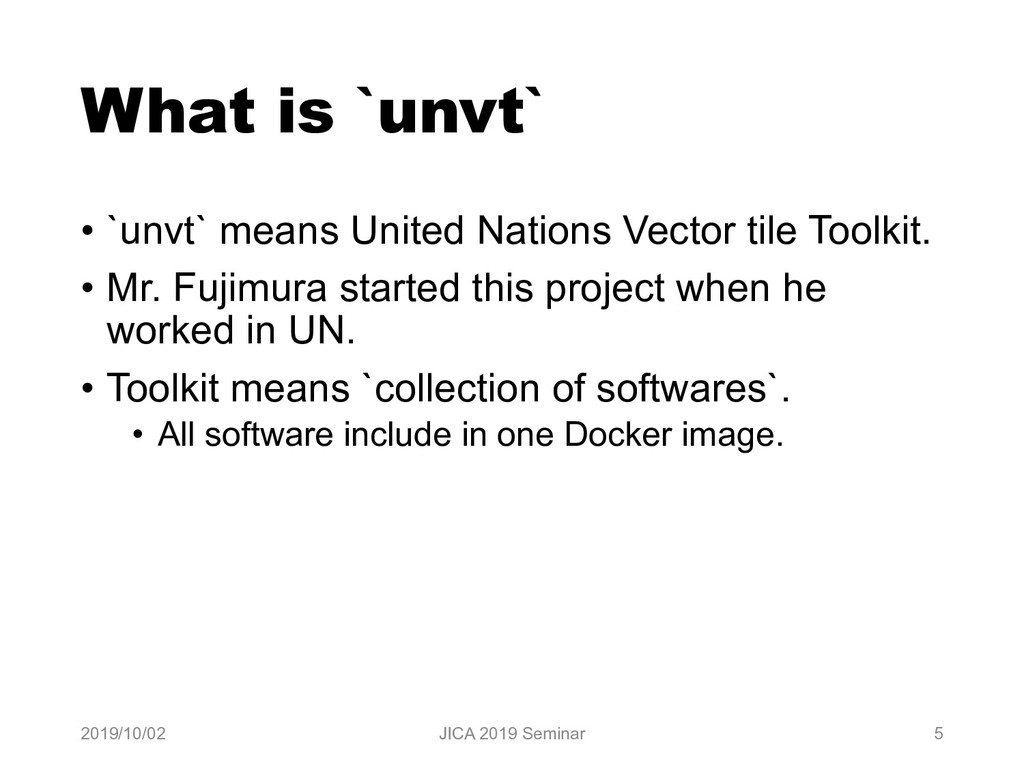 What is `unvt` • `unvt` means United Nations Ve...