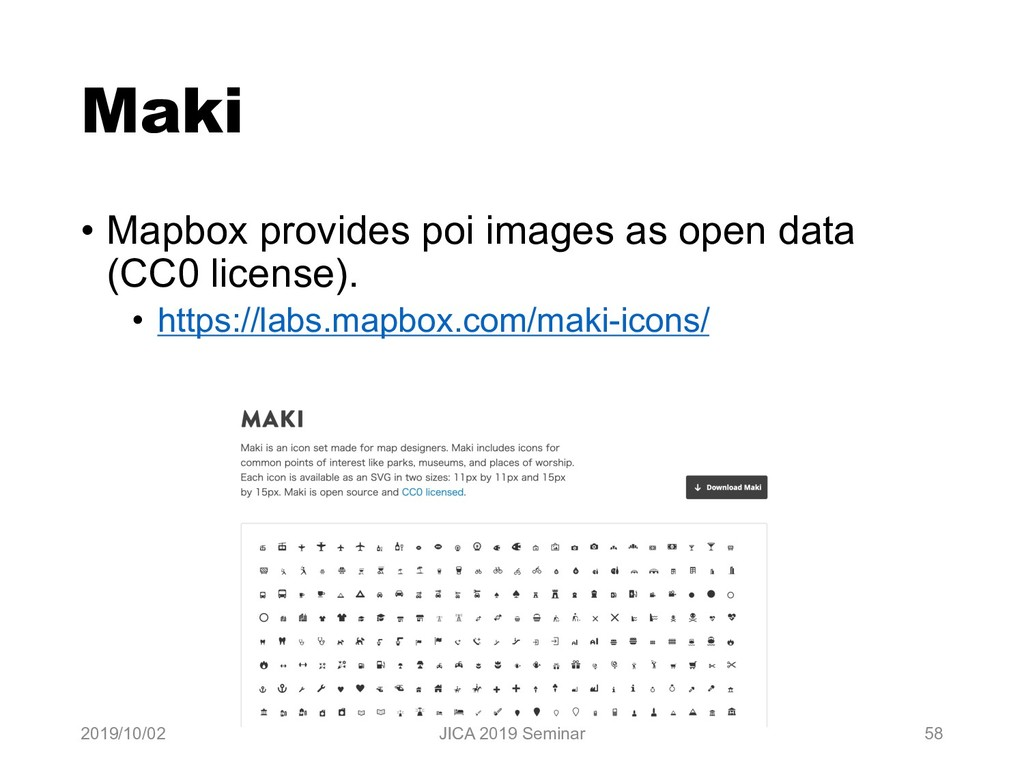 Maki • Mapbox provides poi images as open data ...