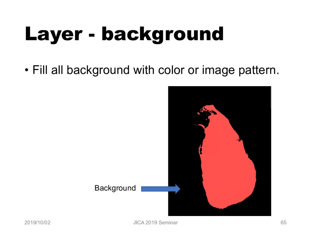 Layer - background • Fill all background with c...