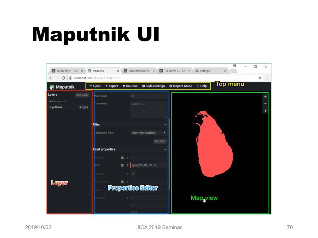 Maputnik UI 2019/10/02 JICA 2019 Seminar 70