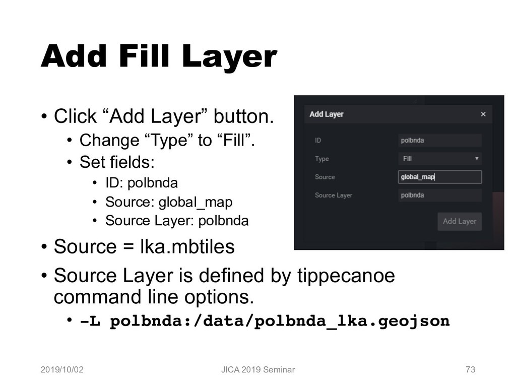 "Add Fill Layer • Click ""Add Layer"" button. • Ch..."