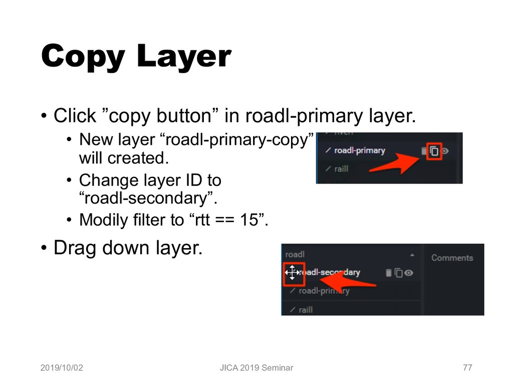"Copy Layer • Click ""copy button"" in roadl-prima..."