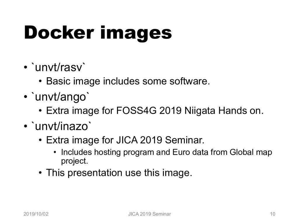 Docker images • `unvt/rasv` • Basic image inclu...