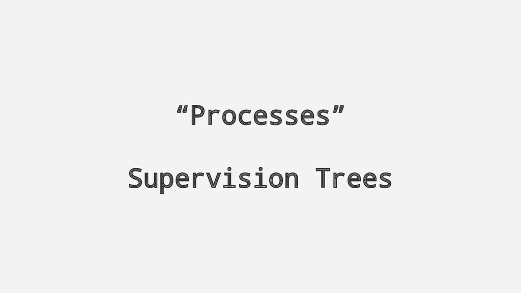"""Processes"" Supervision Trees"