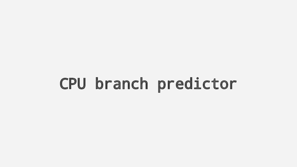 CPU branch predictor