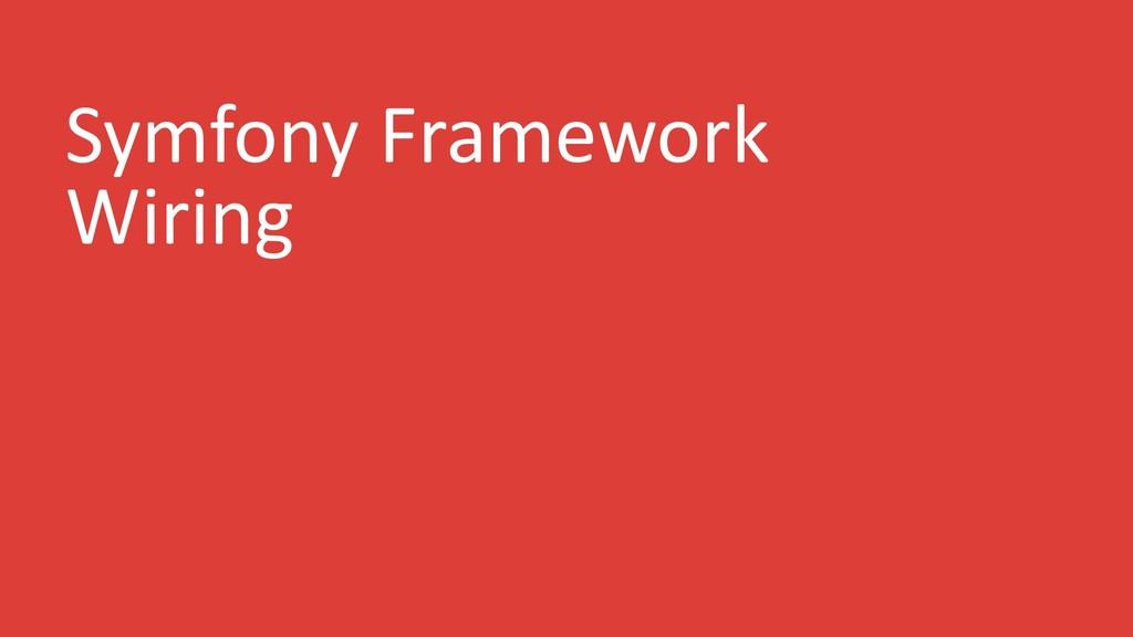 Symfony Framework Wiring