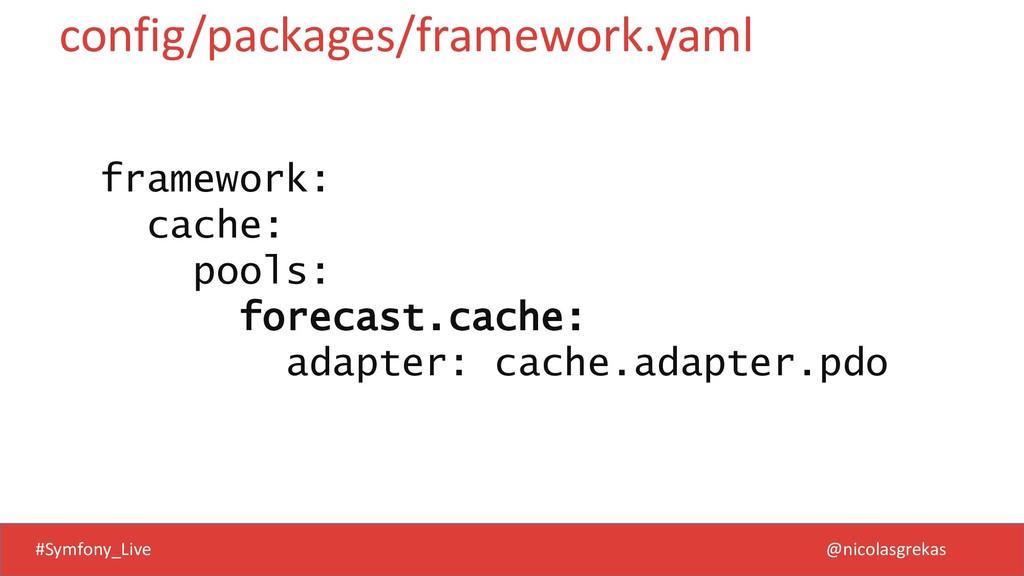 #Symfony_Live @nicolasgrekas framework: cache: ...