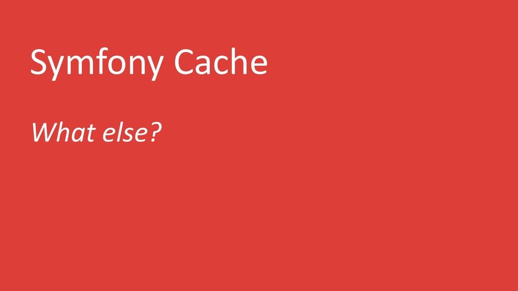 Symfony Cache What else?
