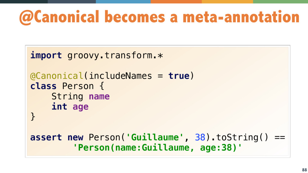 88 @Canonical becomes a meta-annotation import ...