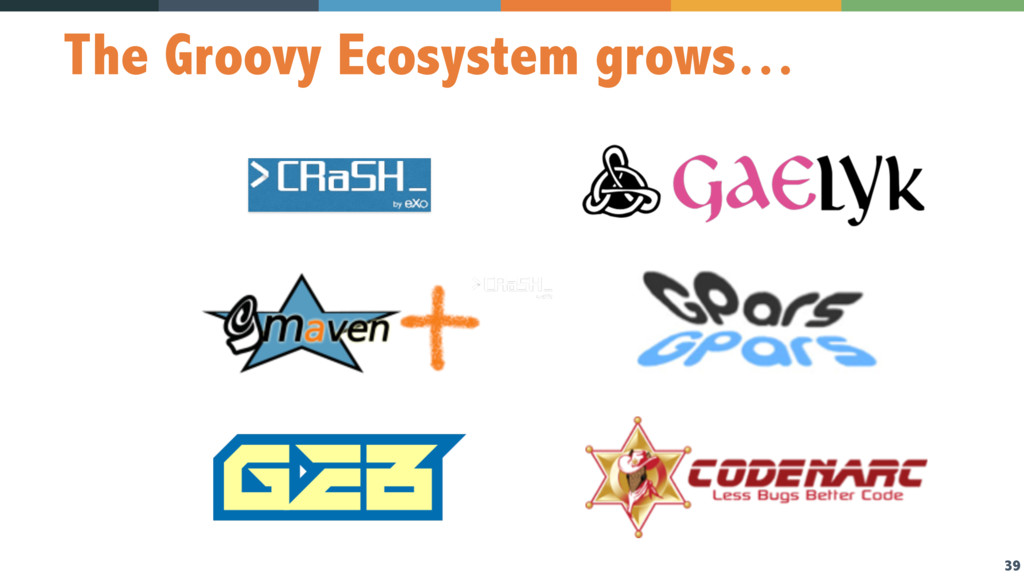 39 The Groovy Ecosystem grows…