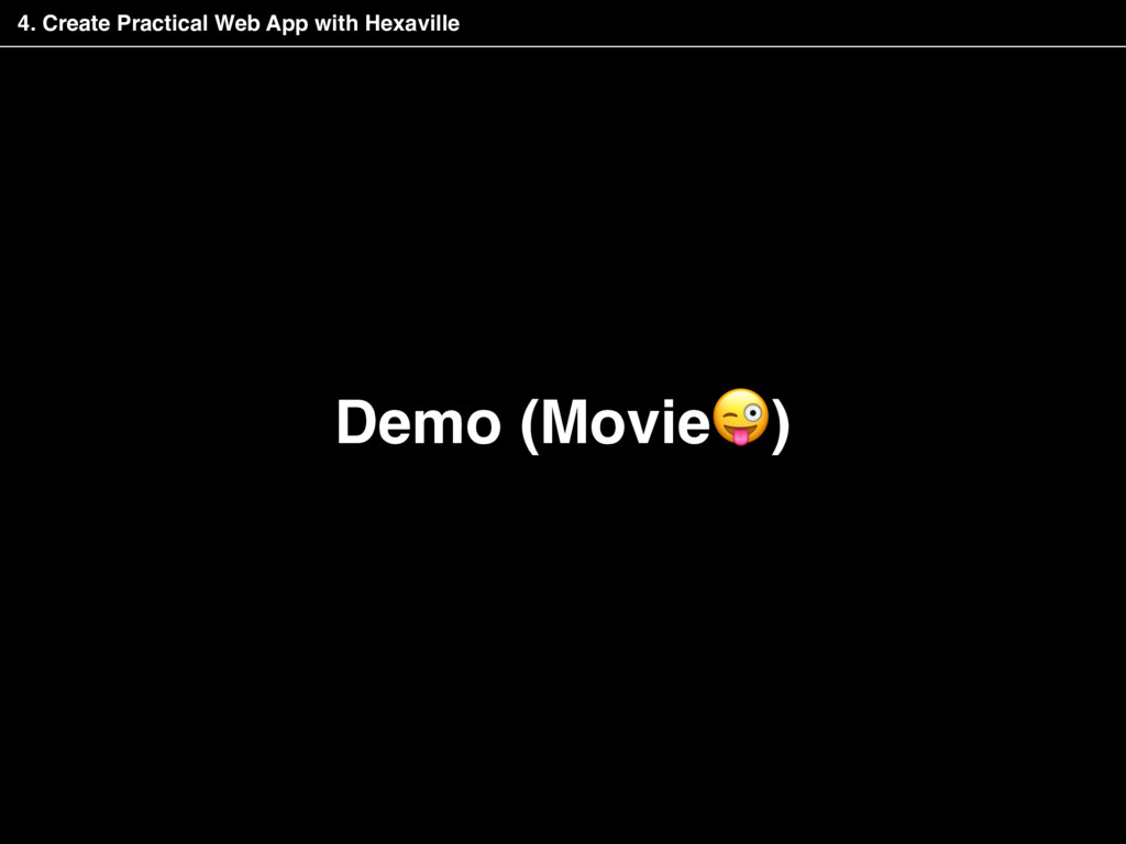 Demo (Movie) 4. Create Practical Web App with H...