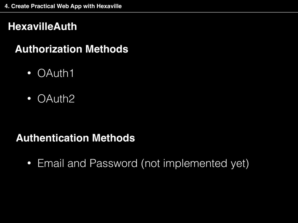 HexavilleAuth • OAuth1 • OAuth2 Authorization M...