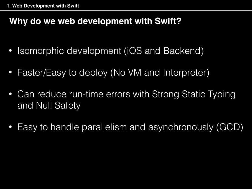 Why do we web development with Swift? • Isomorp...