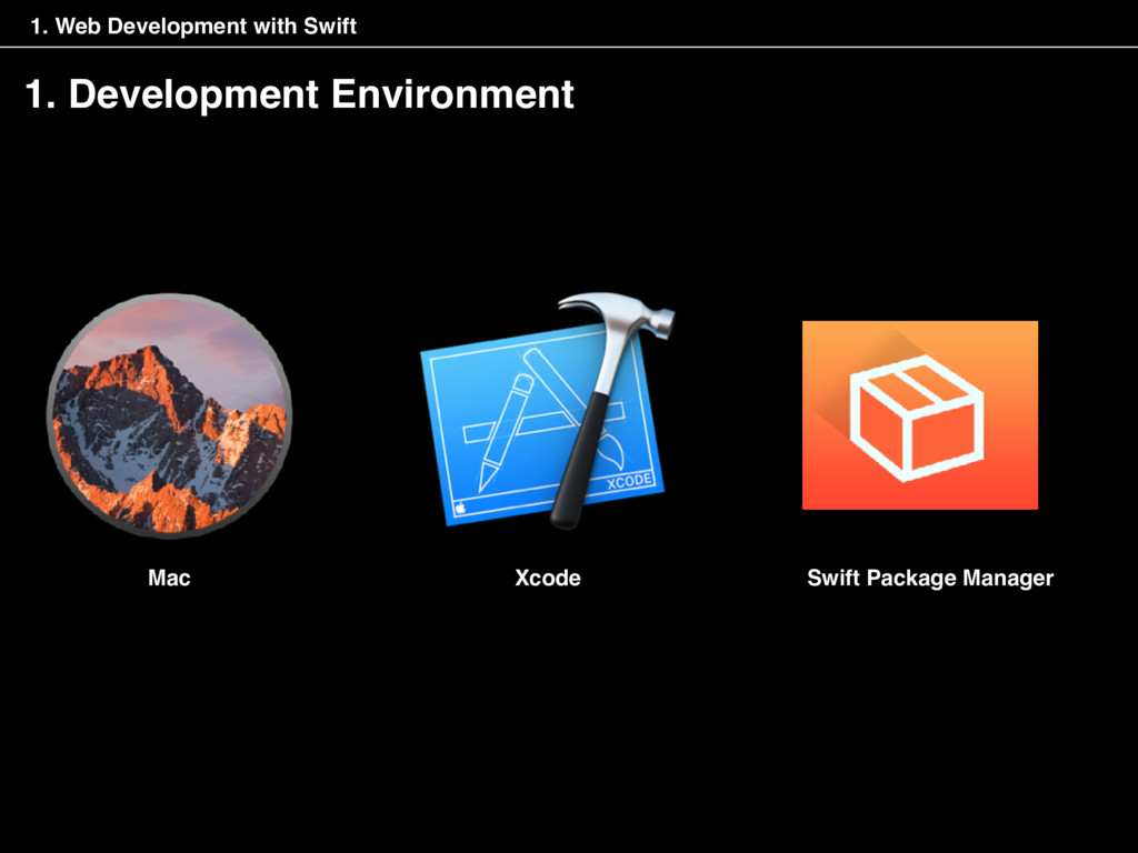 1. Development Environment Swift Package Manage...