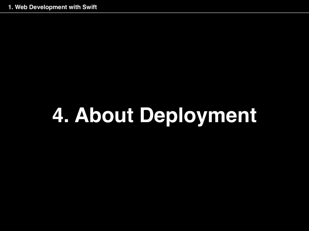 4. About Deployment 1. Web Development with Swi...