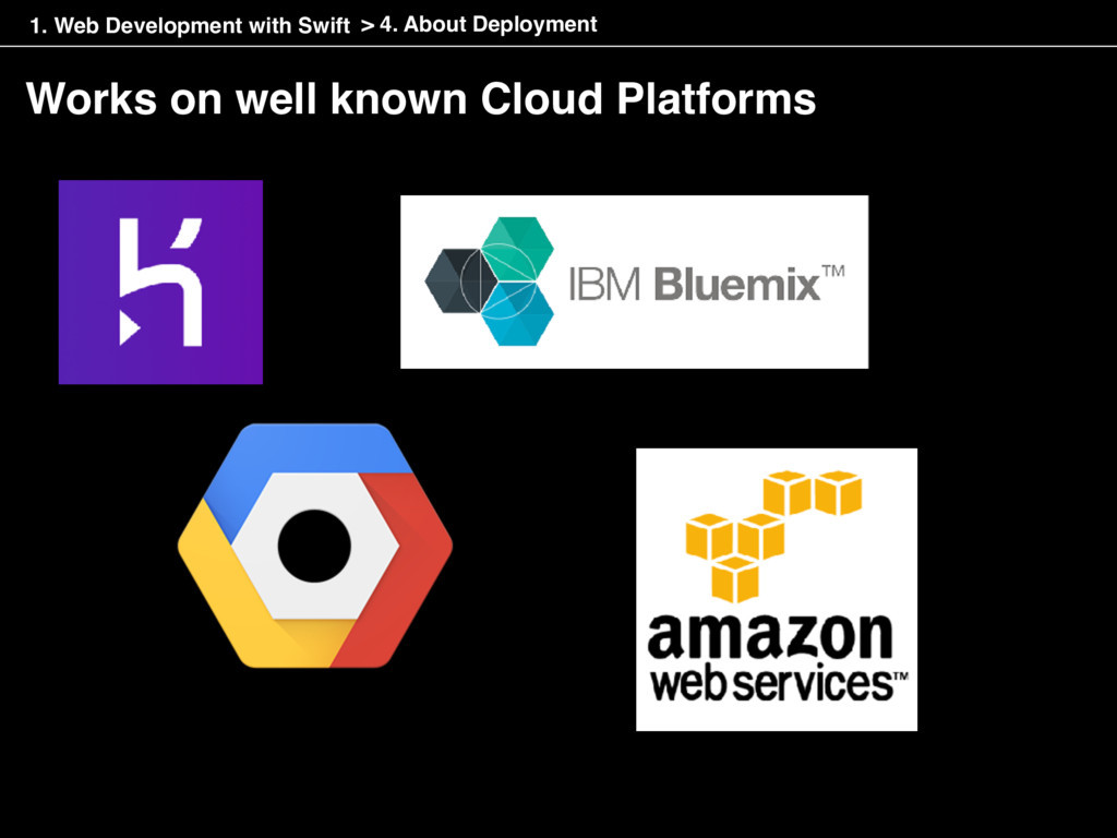 Works on well known Cloud Platforms > 4. About ...