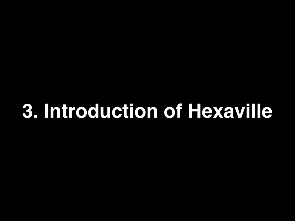 3. Introduction of Hexaville