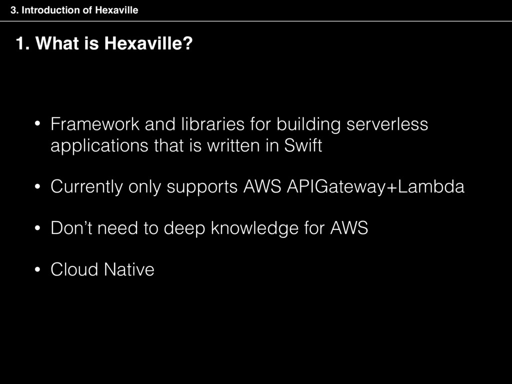 • Framework and libraries for building serverle...