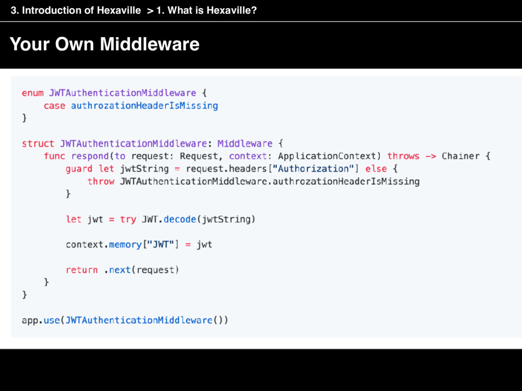 Your Own Middleware > 1. What is Hexaville? 3. ...