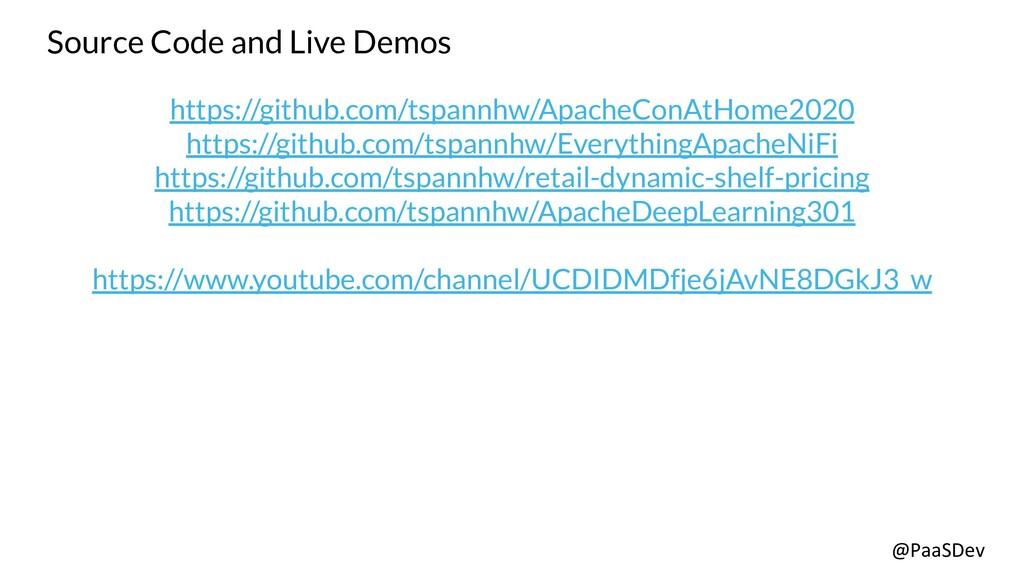 @PaaSDev Source Code and Live Demos https://git...