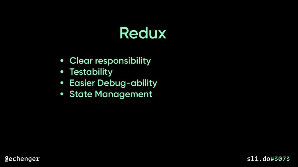 • Clear responsibility • Testability • Easier D...