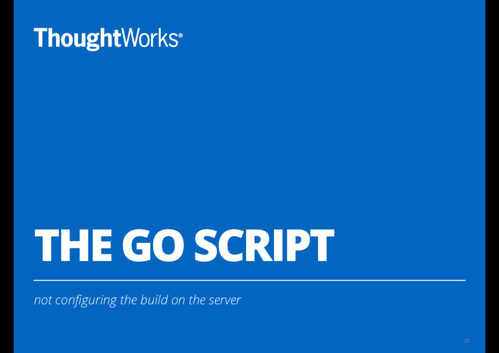 THE GO SCRIPT not configuring the build on the s...