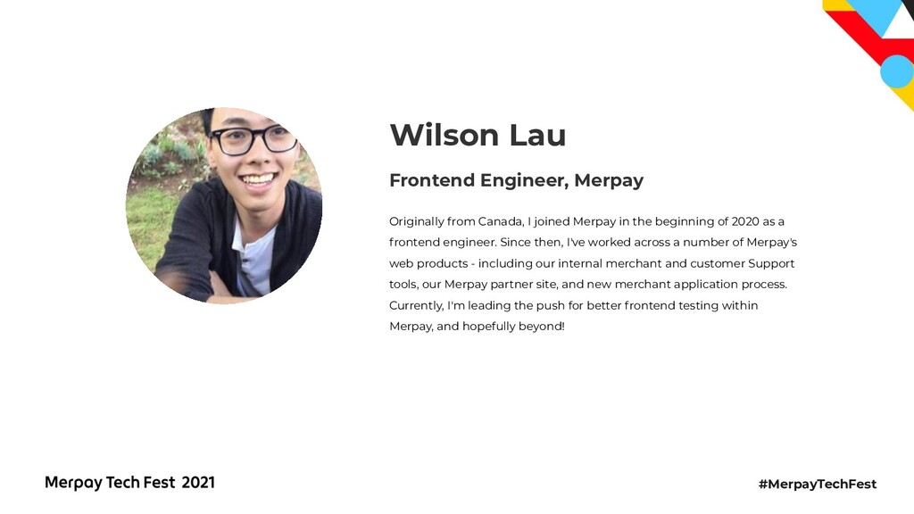 #MerpayTechFest Frontend Engineer, Merpay Wilso...