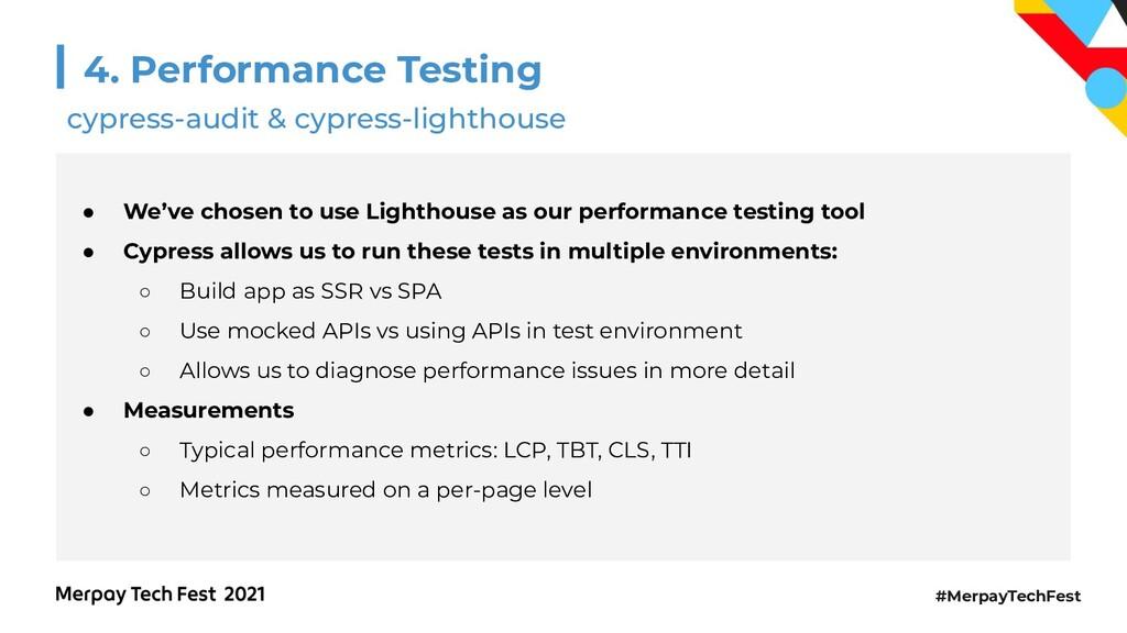 #MerpayTechFest 4. Performance Testing ● We've ...