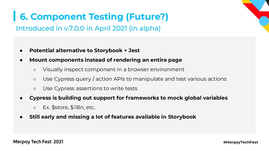 #MerpayTechFest 6. Component Testing (Future?) ...