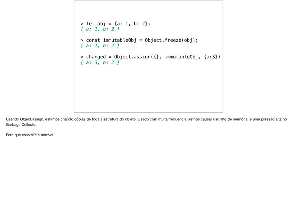 > let obj = {a: 1, b: 2}; { a: 1, b: 2 } > cons...