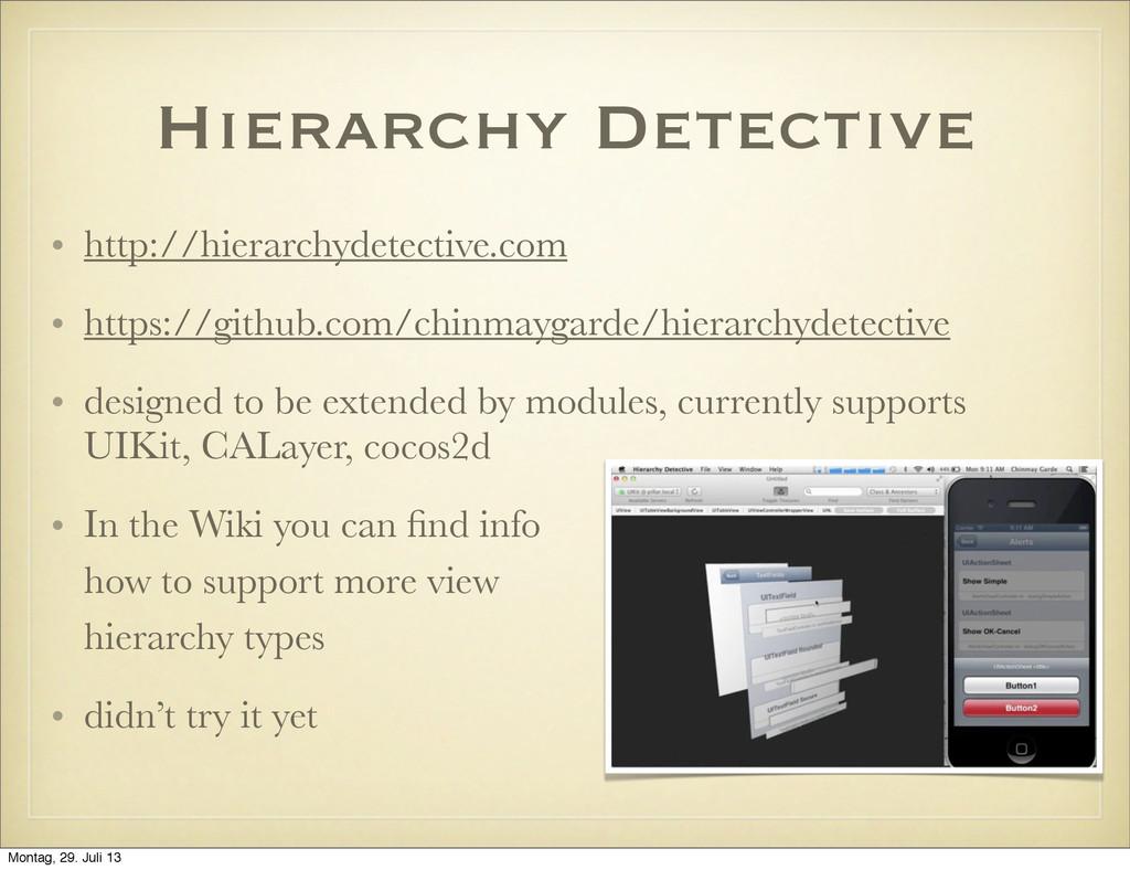 Hierarchy Detective • http://hierarchydetective...