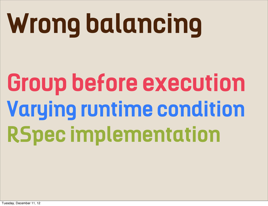 Wrong balancing Group before execution Varying ...
