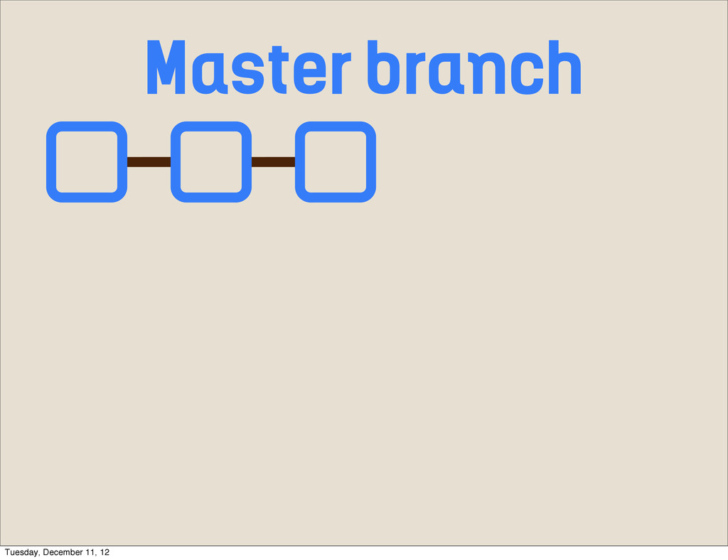 Master branch Tuesday, December 11, 12