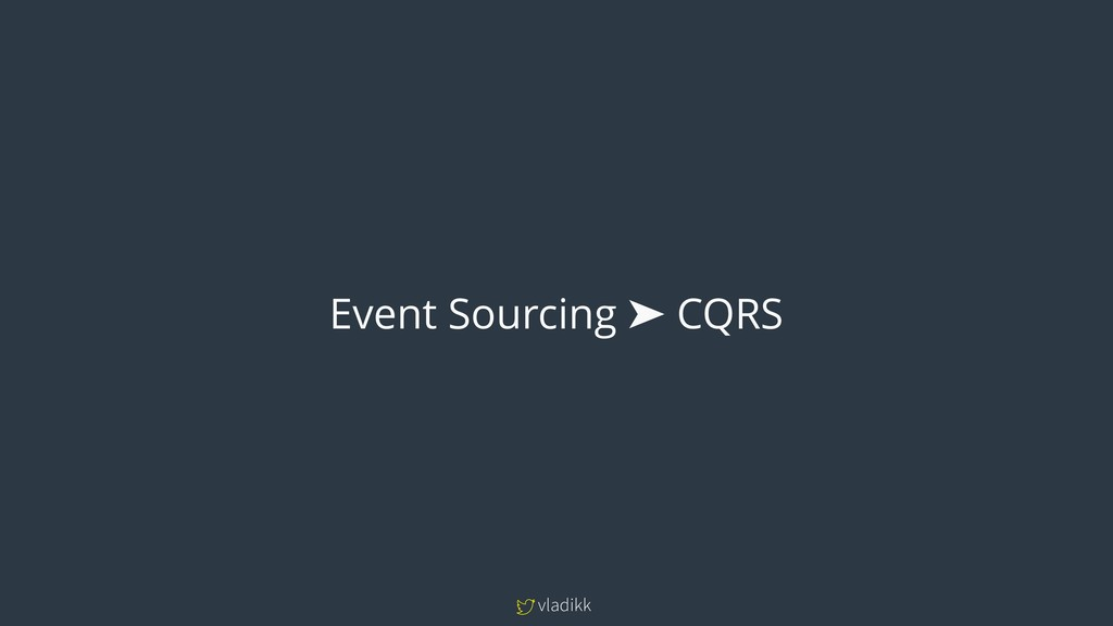 vladikk Event Sourcing ➤ CQRS
