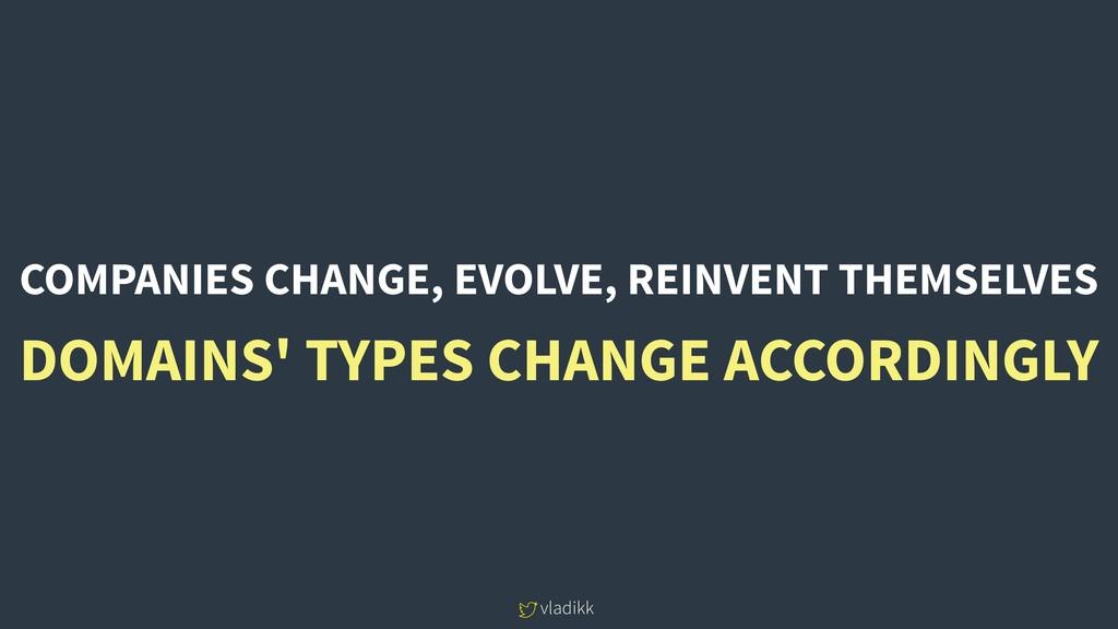 vladikk COMPANIES CHANGE, EVOLVE, REINVENT THEM...