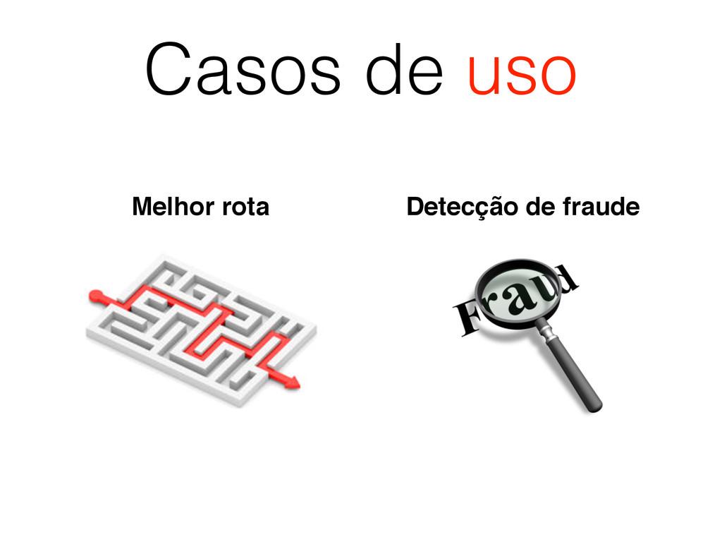 Casos de uso Melhor rota Detecção de fraude