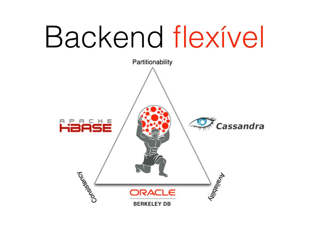 Backend flexível