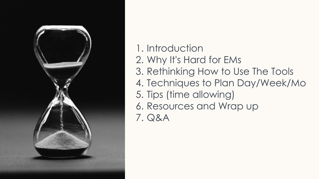 Topics 1. Introduction 2. Why It's Hard for EMs...